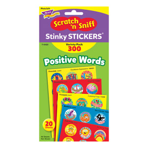 (3 Pk) Stinky Stickers Positive Words Acid-free Variety 300 Per Pk