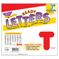 Ready Letters 3 Inch Casual Red
