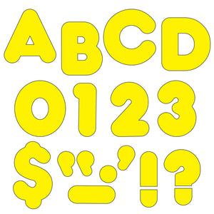 (6 Pk) Ready Letters 3in Yellow Casual 123 Per Pk