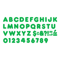 (6 Pk) Ready Letters 3in Green Casual 123 Per Pk
