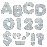 Ready Letters 3 Inch Casual Silver Sparkle