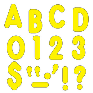 Yellow  Ready Letters 7in Uppercase Billboard Font