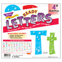 (3 Pk) Ready Letters 4in Bubbles Playful Upper & Lowercase Combo