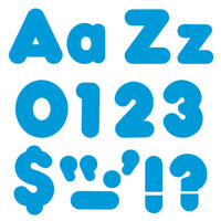 (6 Pk) Ready Letters 4in Blue Casual Uppercase & Lowercase Combo