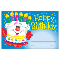 (6 Pk) Awards Happy Birthday Cake