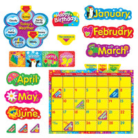 Wipe Off Stars N Swirls Calendar Cling Bb Set
