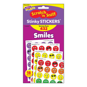(3 Pk) Stinky Stickers Smiles 432 Per Variety Pk Acid-free