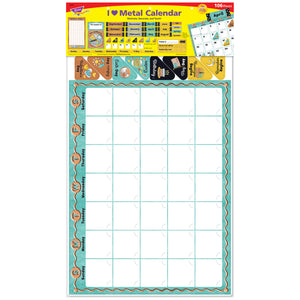 (2 St) Calendar Bulletin Board St I Heart Metal