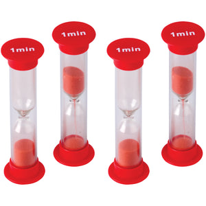 (6 Ea) Small Sand Timer 1 Minute