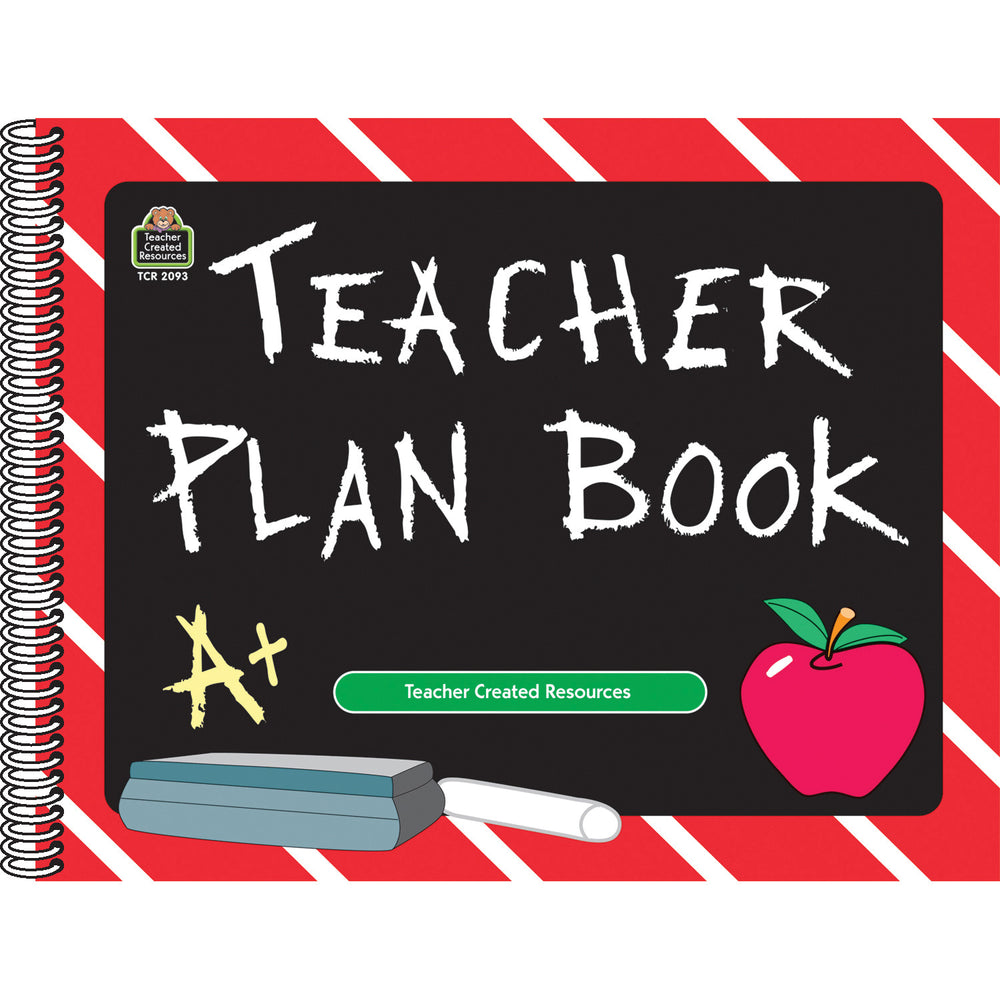 (3 Ea) Teacher Plan Book Chalkboard