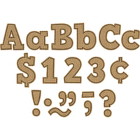 (3 Pk) Burlap Bold Block 4in Letters Combo Pack