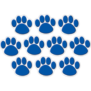 (3 Pk) Accents Blue Paw Prints
