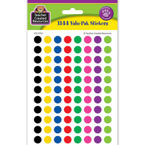 (6 Pk) Colorful Circles Mini Stickers Value Pack