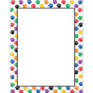 (6 Pk) Colorful Paw Prints Computer Paper