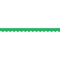 (6 Pk) Green Mini Polka Dots Scalloped Border Trim