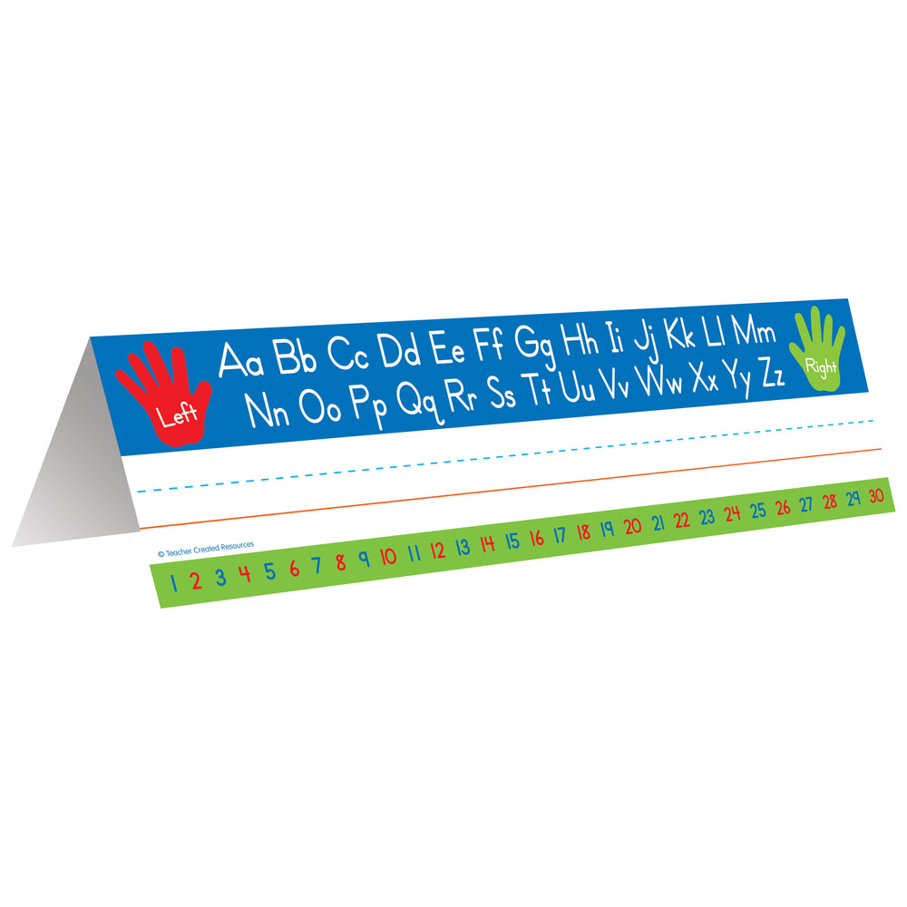 (3 Pk) Left Right Alphabet Tent Name Plate