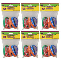 (6 Pk) Happy Birthday Wristbands 10 Per Pk