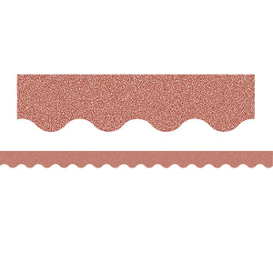 (3 Pk) Rose Gold Glitz Scalloped Border