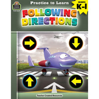 (6 Ea) Practice To Learn Follow Directions Gr K-1