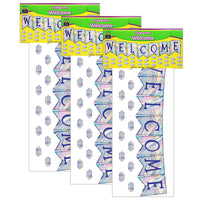 (3 St) Iridescent Pennants Welcome Bb St