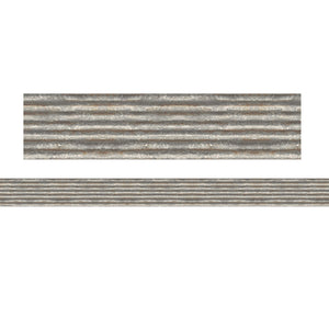 (3 Pk) Corrugated Metal Straight Border