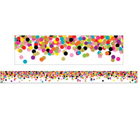 (3 Pk) Confetti Straight Rolled Border