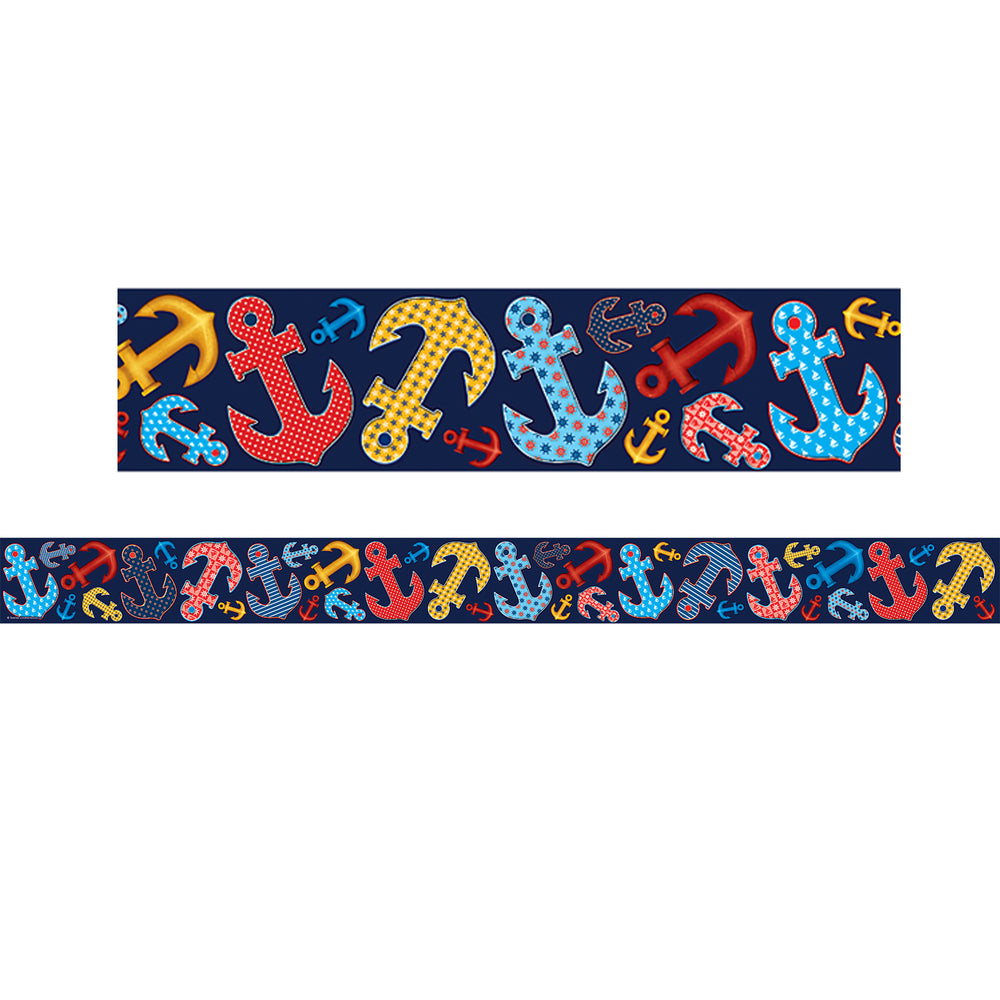 (3 Pk) Anchors Straight Rolled Border Trim