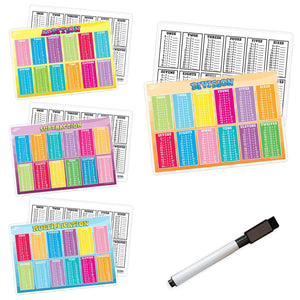 Academic Activity Place Mats 4pk W- Dry Erase Marker