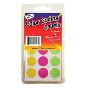 Neon Circle Labels