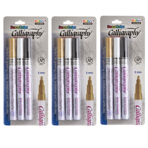 (3 Pk) Caligraphy Paint Markers 3pk