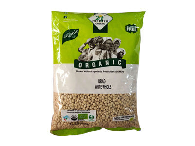 Organic Whole White Urad Dal (24 Mantra)
