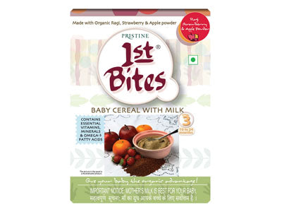 Organic 1st Bites - Ragi, Strawberry & Apple Powder (Pristine)