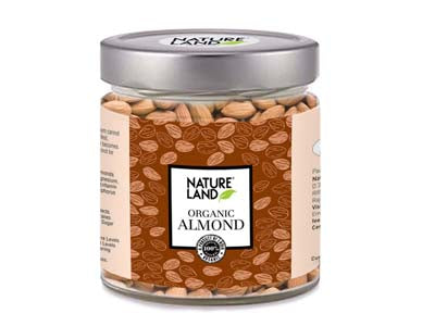 Organic Roasted Almonds (Natures-Land)