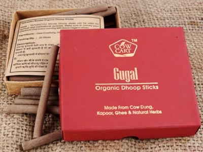 Buy Cow Cart Organic Gugal Dhoop Sticks Online