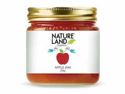 Organic Apple Jam (Natures-Land)