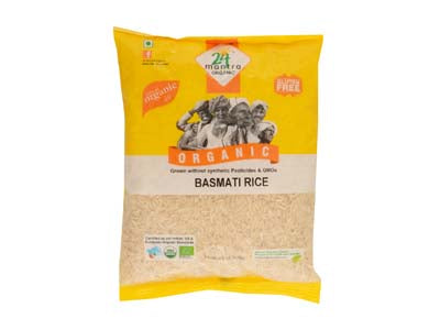 Pure Healthy Certified Organic BASMATI RICE PREMIUM BROWN by 24Mantra - Orgpick.com