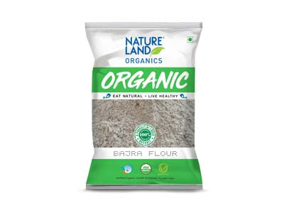 Organic Bajra Flour (Nature-land)