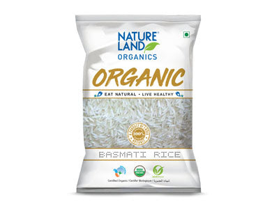 Buy Natureland's Organic Regular Basmati Rice Online At Orgpick