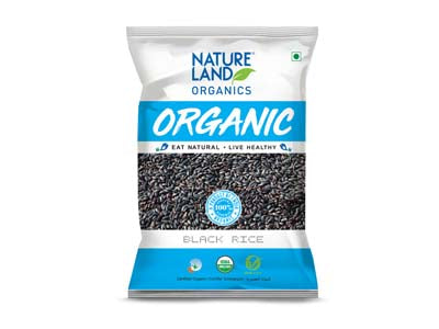 Organic Black Rice (Natures-Land)