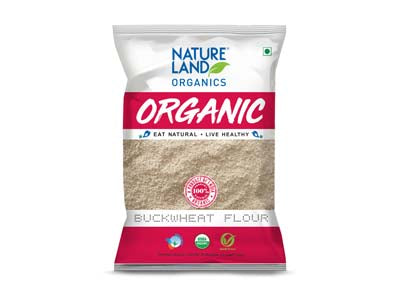Organic Buckwheat Flour/Kuttu Atta (Nature-Land)