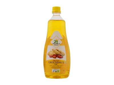 Certified Organic COLD PRESSED GROUNDNUT OIL Online at Orgpick.com by 24Mantra.
