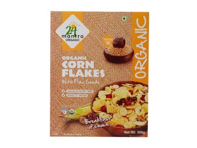Healthy Certified Organic CORN FLAKES Online at Orgpick.com by 24Mantra.