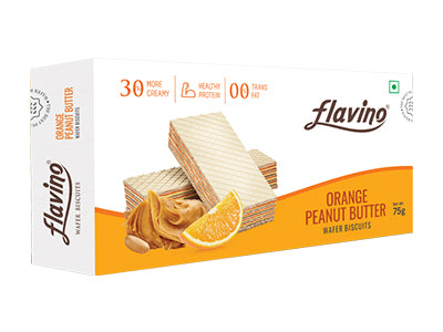 Orange Peanut Butter Wafer Biscuit (Flavino)