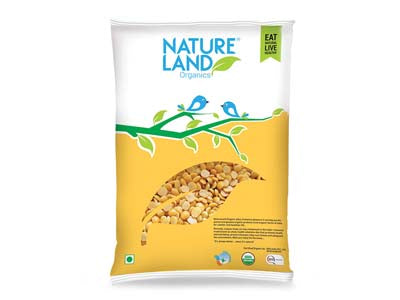 Organic Chana Dal (Nature-Land)