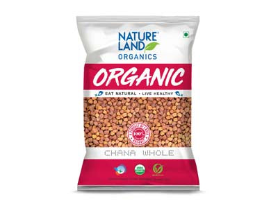 Organic Chana whole (Natures-Land)