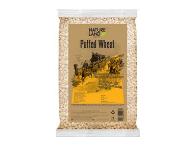 Organic Puffed Wheat (Nature-Land)