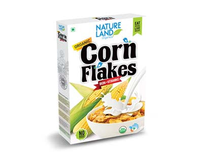Organic Corn Flakes (Natures-Land)