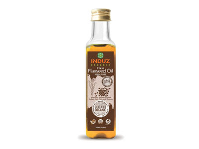 Organic Flexi Flaxseed Oil (Cold Pressed) (Induz Organic)