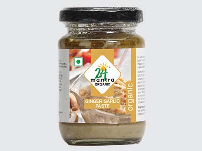 Certified Organic GINGER GARLIC PASTE Online at Orgpick.com by 24Mantra.