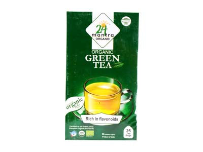 Certified Organic GREEN TEA at Orgpick.com by 24 Mantra.